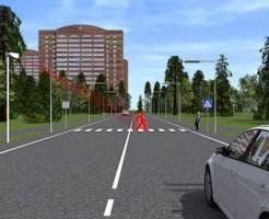 На пешеходных переходах в Москве появятся виртуальные пешеходы